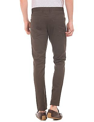 U.S. Polo Assn. Denim Co. Solid Slim Tapered Fit Trousers