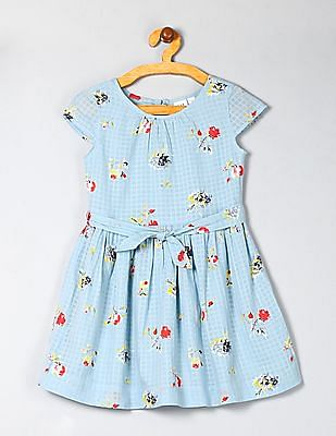 GAP Girls Short Sleeve Tie Waist Dress