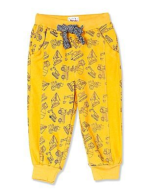 Donuts Yellow Boys Allover Print Knit Joggers