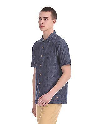 Cherokee Printed Short Sleeve Shirt