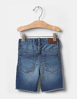 GAP Baby 1969 Frayed Knit Denim Shorts