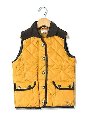U.S. Polo Assn. Kids Girls Quilted Sleeveless Jacket