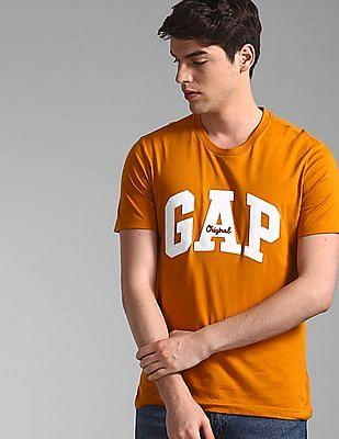 GAP Orange Logo Crewneck T-Shirt