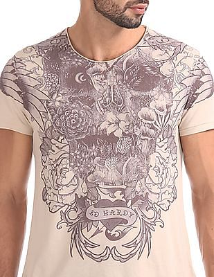 Ed Hardy Slim Fit Printed Front T-Shirt