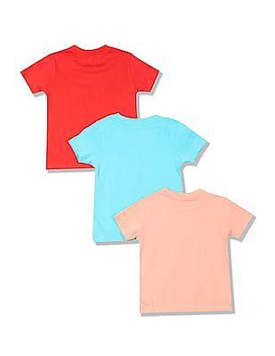 Cherokee Boys Short Sleeve Graphic T-Shirt - Pack Of 3