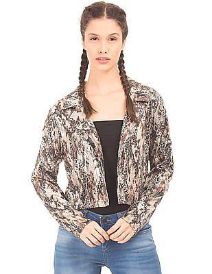 EdHardy Women Sequin Cropped Jacket