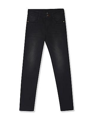 FM Boys Black Boys Mid Rise Dark Wash Jeans