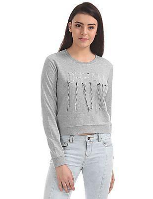 Cherokee Heathered Crew Neck Sweatshirt