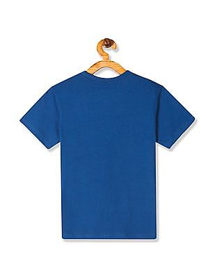 Cherokee Blue Boys Guitar Print Cotton T-Shirt