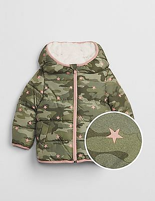 GAP Baby Green Coldcontrol Max Sherpa Puffer Jacket