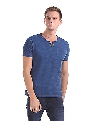 Roots by Ruggers Heathered Notch Neck T-Shirt