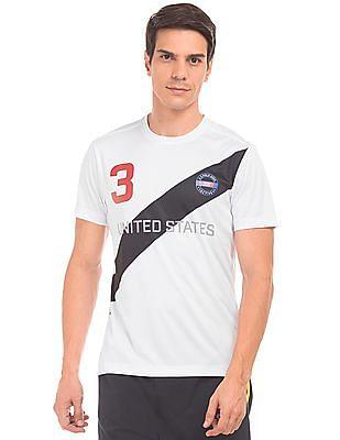 USPA Active Crew Neck Printed Active T-Shirt