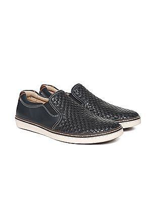 Johnston & Murphy Basketweave Texture Slip On Shoes