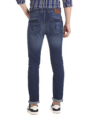Flying Machine Michael Slim Tapered Fit Low Rise Jeans