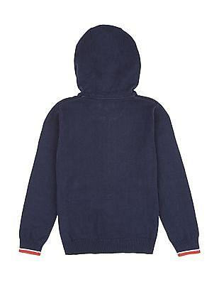 U.S. Polo Assn. Kids Boys Hooded Sweater Jacket