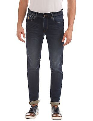 U.S. Polo Assn. Denim Co. Whiskered Slim Tapered Fit Jeans