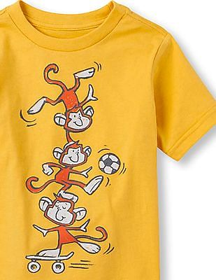 The Children's Place Toddler Boy Short Sleeve Active Monkey Graphic Tee