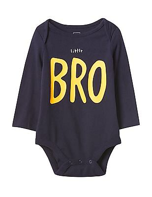 GAP Baby Blue Bright Family Bodysuit