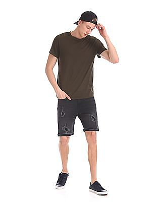 Aeropostale Regular Fit Distressed Shorts