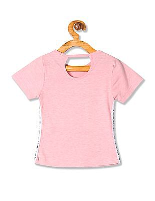 Cherokee Girls Round Neck Graphic Top
