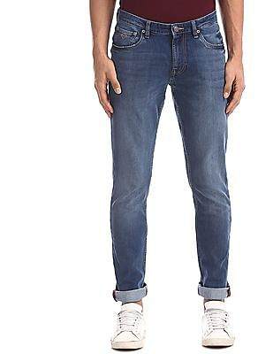 Arrow Sports Blue James Slim Fit Stone Wash Jeans