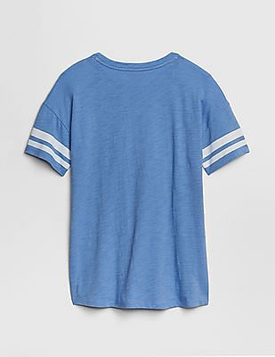 GAP Girls Graphic Rugby-Stripe Tunic T-Shirt