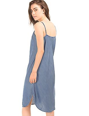 GAP Women Blue 1969 Tencel Denim Cami Dress