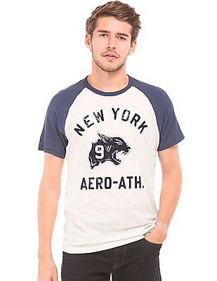 Aeropostale Slub Contrast Raglan Sleeve T-Shirt