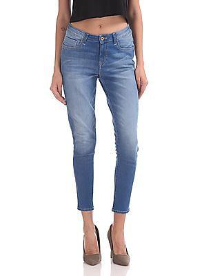 U.S. Polo Assn. Women Super Skinny Fit Stone Wash Jeans