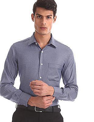 Arrow Blue Regular Fit Check Shirt