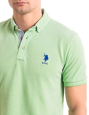 U.S. Polo Assn. Slim Fit Button Down Polo Shirt