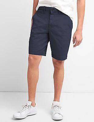 GAP Men Blue Washwell Vintage Wash Shorts With GapFlex