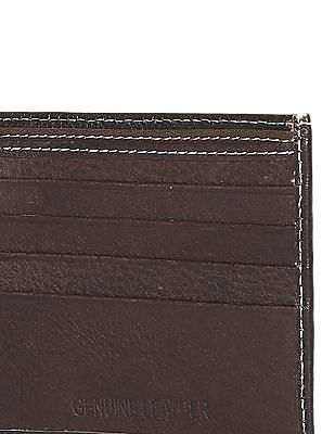 Flying Machine Brown Panelled Leather Wallet