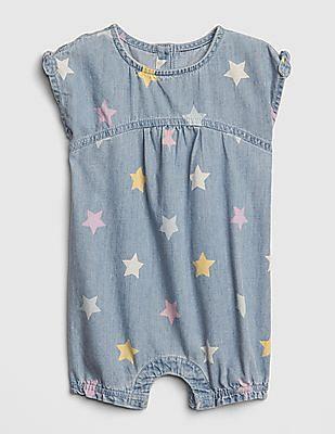 GAP Baby Star Denim Shorty One-Piece