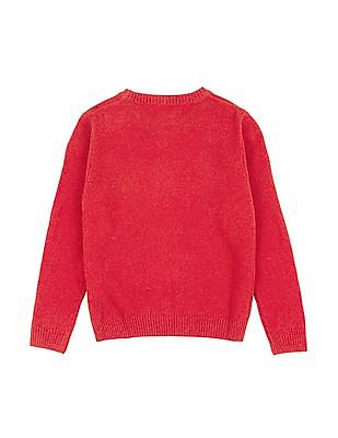 U.S. Polo Assn. Kids Boys Round Neck Lambswool Sweater