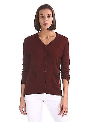 Cherokee V-Neck Buttoned Cardigan