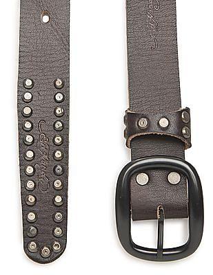 Ed Hardy Studded Leather Belt