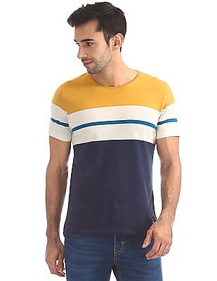 Flying Machine Standard Fit Striped T-Shirt
