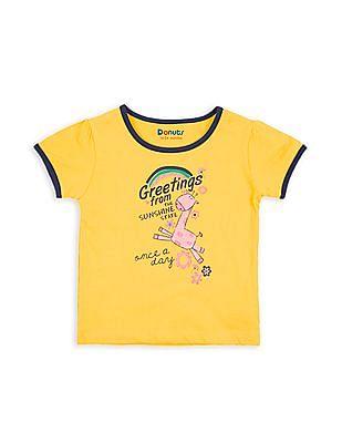 Donuts Girls Giraffe Print T-Shirt
