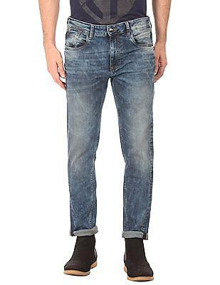Ed Hardy Acid Wash Slim Fit Jeans