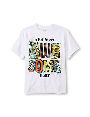 The Children's Place Boys Short Sleeve 'This Is My Awesome Shirt' Graphic Tee