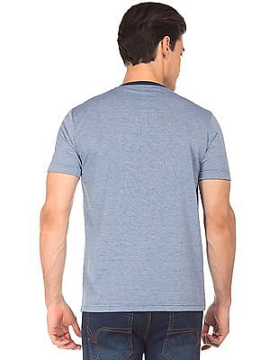 Roots by Ruggers Striped Knit Henley T-Shirt