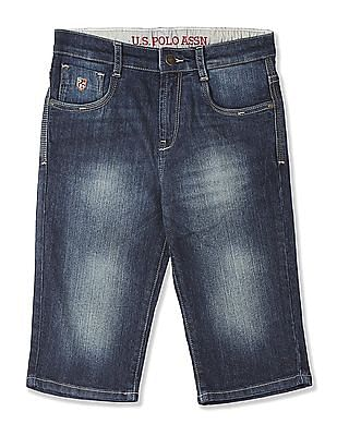 U.S. Polo Assn. Kids Boys 3/4Th Denim Shorts