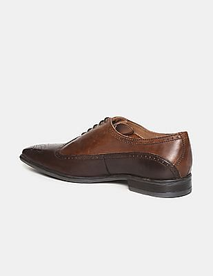 Arrow Brown Brogued Wingtip Oxford Shoes