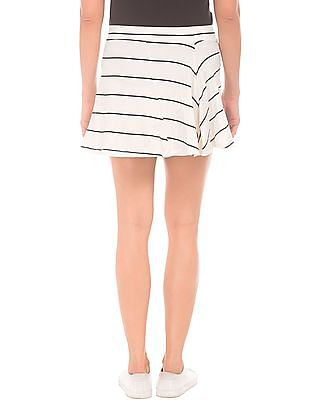 SUGR Flared Hem Striped Skirt