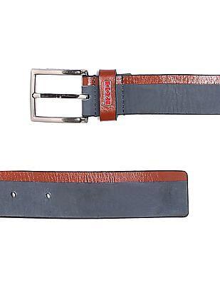 Izod Colour Blocked Leather Belt