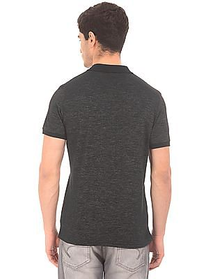 Roots by Ruggers Pique Knit Heathered Polo Shirt