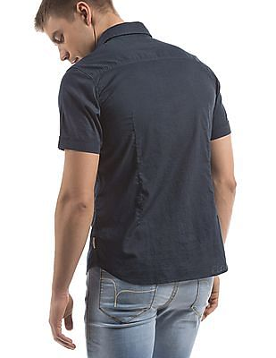 Flying Machine Short Sleeve Slim Fit Shirt
