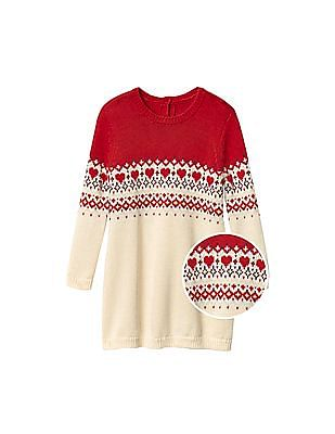 GAP Baby Fair Isle Yoke Sweater Dress