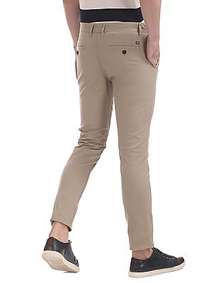 Arrow Sports Slim Fit Flat Front Trousers